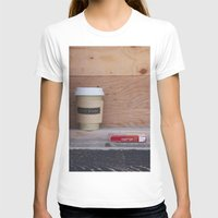 cigarettes T-shirts featuring Cigarettes and coffee by RMK Photography