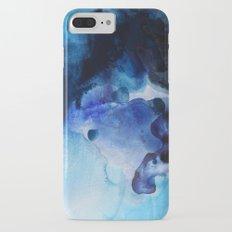 Indigo watercolor iPhone 7 Plus Slim Case