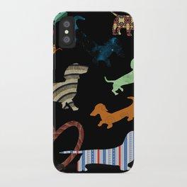 dachshund dog. love. pattern iPhone Case