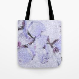 Dogwood Tree Flowers (stained glass-blue) Tote Bag