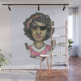 girl with an eye patch Wall Mural