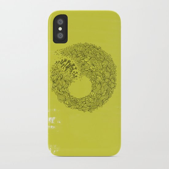 Home Yellow iPhone Case