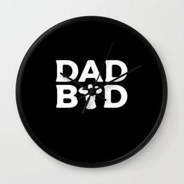 Dad Bod Fathers Day Father Daddy Body Wall Clock