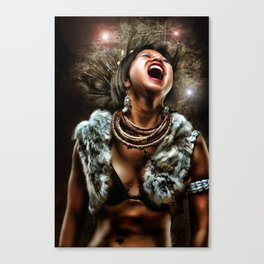tribal pain Canvas Print