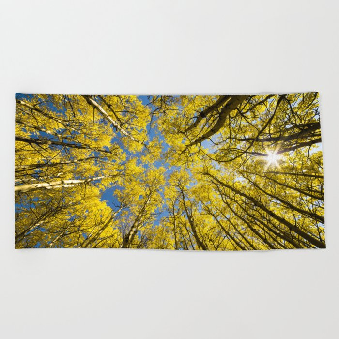 Trees Up Above Us Beach Towel