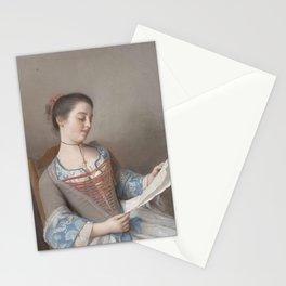 Jean-Etienne Liotard - 'La liseuse' (Marianne Lavergne, een nicht van de kunstenaar, in Lyonese plat Stationery Cards