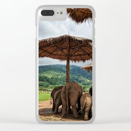 I like big butts Clear iPhone Case