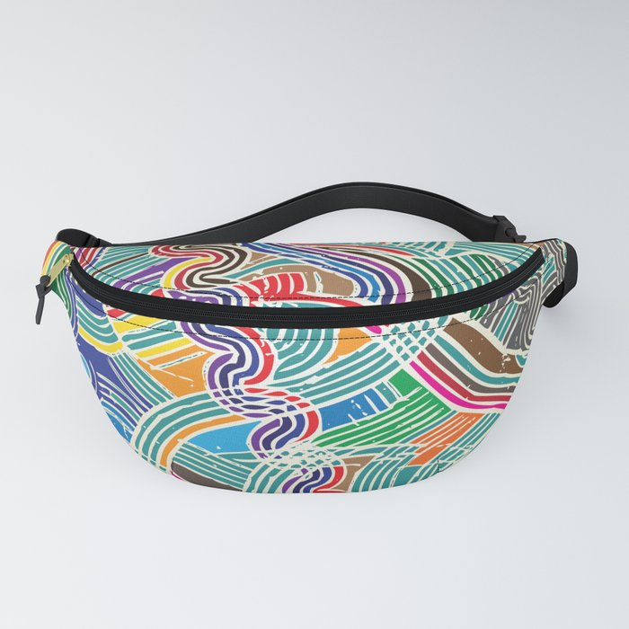 Happy Fork Waves Fanny Pack