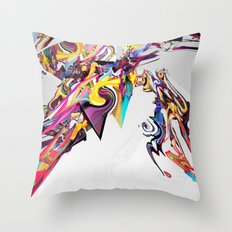 Spiral Static Throw Pillow