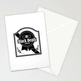 Black Death Ribbon Stationery Cards