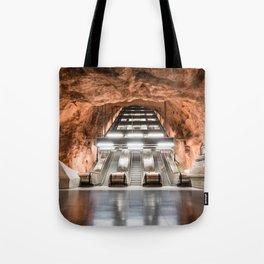 Rådhuset Metro Station in Stockholm, Sweden Tote Bag