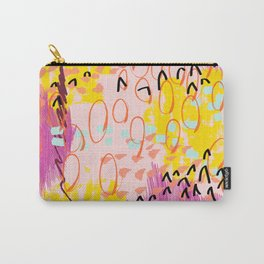 Abstract Spring Pattern Number One Carry-All Pouch