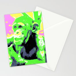Pop Art Young Chimp Stationery Cards