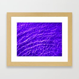 Water Reflections in the Sea - Purple Framed Art Print