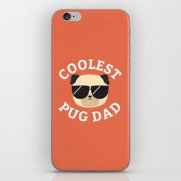 Coolest Pug Dad iPhone Skin