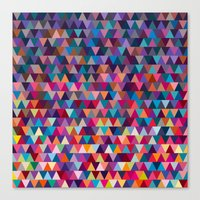 triangles Canvas Prints featuring Triangles by Ornaart