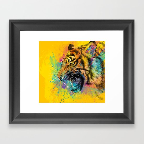Angry Tiger Framed Art Print