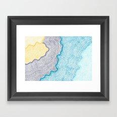 Color Waves Framed Art Print