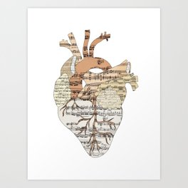 Sound Of My Heart (on white) Art Print
