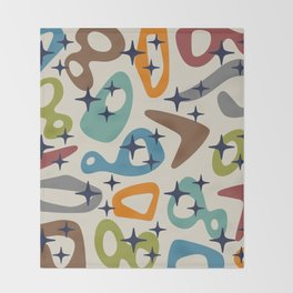 Retro Mid Century Modern Abstract Composition 926 Throw Blanket