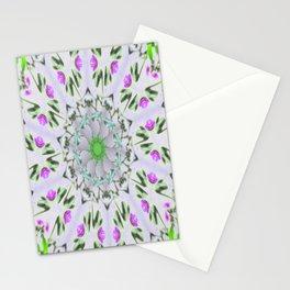 Purple Wildflower Kaleidoscope Art 7 Stationery Cards