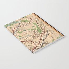 New York City Metro Subway System Map 1954 Notebook