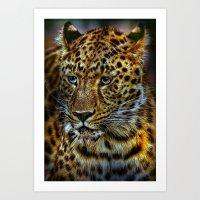 jaguar Art Prints featuring Jaguar by WonderfulDreamPicture