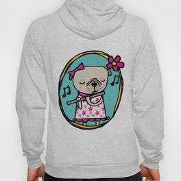 Pug with Flute Hoody