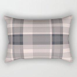 Pink plaid 01 Rectangular Pillow