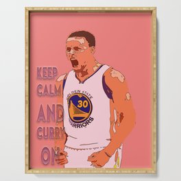 keep calm and curry on Serving Tray