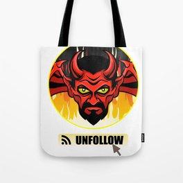 Devil Religion Unfollow Jesus God Gift Tote Bag