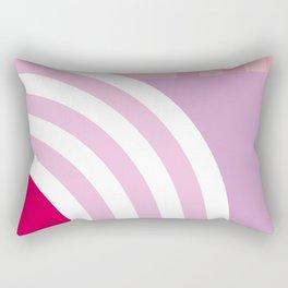 Beach girl and Ice cream rainbow by the sea Rectangular Pillow
