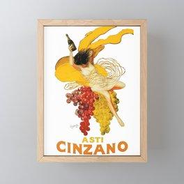 Vintage Asti Cinzano Poster by Leonetto Cappiello Beverage Champagne Drink Artwork for Prints Poster Framed Mini Art Print