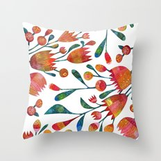 Buds and Flowers Throw Pillow