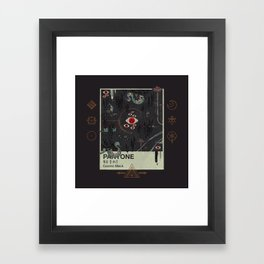 Cosmic Black Framed Art Print