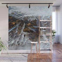 Watercolor Ice 25, Ice Pixelation Wall Mural