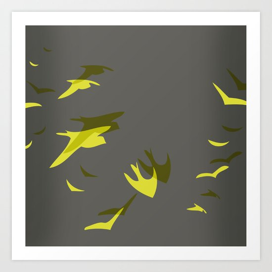 THE FLYING YELLOW Art Print