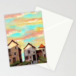 village street Stationery Cards