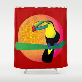 Toucan - Red Shower Curtain