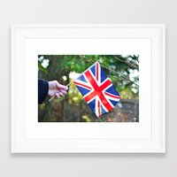 british flag Framed Art Prints featuring British Flag by Blown A Wish Photography