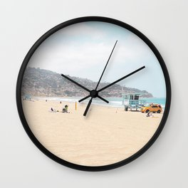Redondo Beach // California Ocean Vibes Lifeguard Hut Surfing Sandy Beaches Summer Tanning Wall Clock
