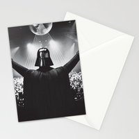 Darth Vader rocks the party Stationery Cards