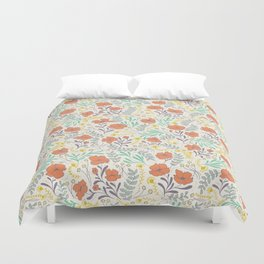 Colorful Peonies Duvet Cover