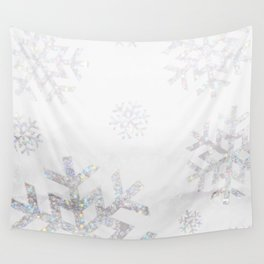 Snowflake Glitter Wall Tapestry