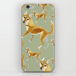 Ginger dingo pattern iPhone Skin