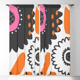 Flowers and beads Blackout Curtain