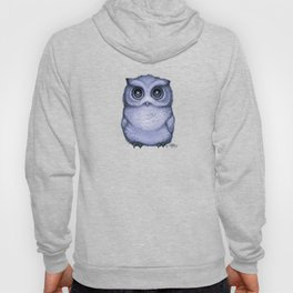 """""""The Little Owl"""" by Amber Marine ~ (Lavender Bud Version) Pencil&Ink Illustration, (Copyright 2016) Hoody"""