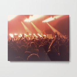 crowd people at the concert Metal Print