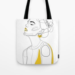 Yellow Lip Tote Bag