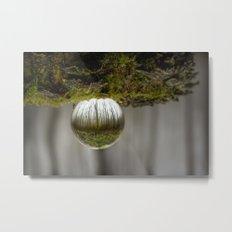 Oculus Mossy Wood Metal Print